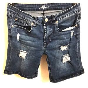 7 for All Mankind Distressed Jeans Shorts Girls 14